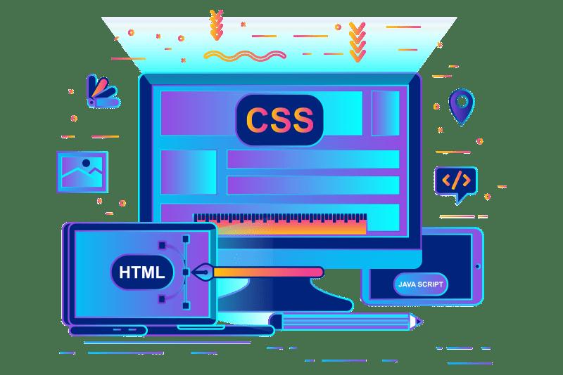 Custom web design illustration