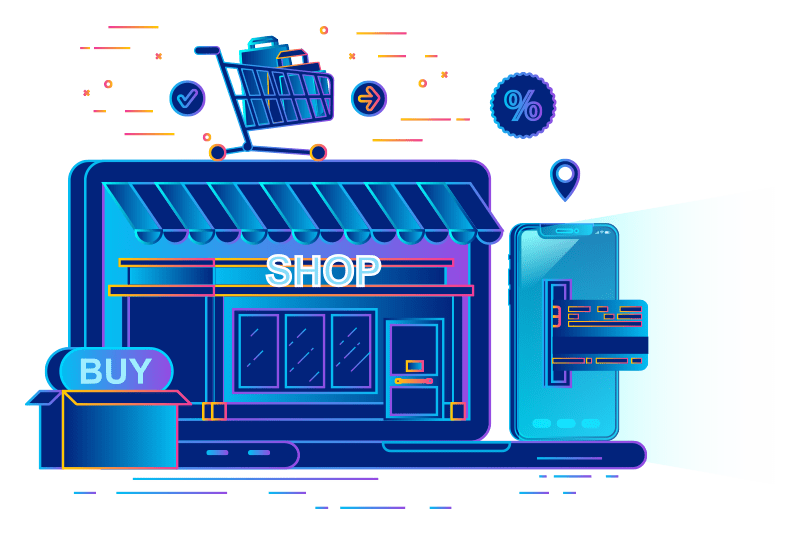 iNet ecommerce store illustration