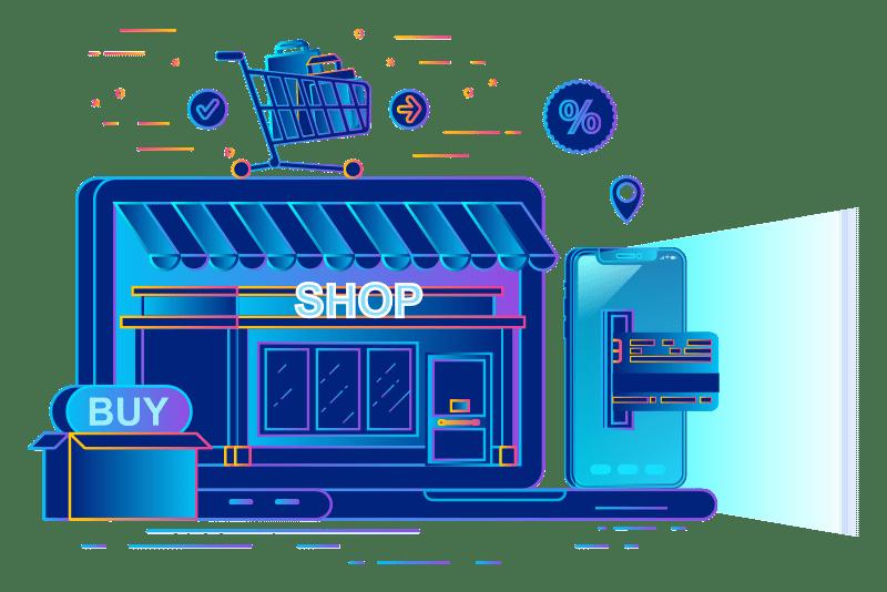 iNet ecommerce store illustration
